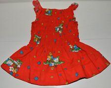 Vêtement enfant ancienne robe bretelle smocks fille vintage 70'S POUM 4 ans
