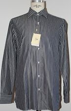 Luigi Borrelli camicia bianca 8 passaggia a mano man shirt Mis it 42 16.5 new