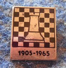 CZECHOSLOVAKIA FEDERATION CHESS 60 ANNIVERSARY / 1905-1965 / ENAMEL PIN BADGE