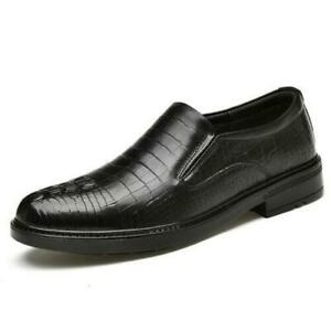 Men Dress Formal Business Leisure Shoes Real Leather Oxfords Slip on Casual 2021