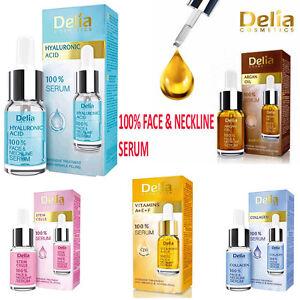 Delia 100% Serum Face & Neckline Anti Wrinkle vitamins A+ E+ F Collagen Argan