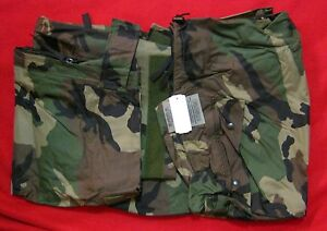 ARMY ISSUE WOODLAND BDU CAMO IMPROVED RAIN TROUSERS PANTS NEW ORC EXTRA EXTRA LG