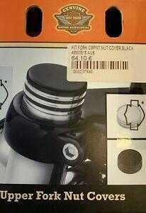 Harley-Davidson Upper Fork Nut Covers Kit Black 45500515