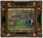 Gauguin Landscape of Brittany 1888 Wood Framed Canvas Print Repro 8x10