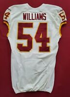#54 Williams of Washington Redskins NFL Game Issued Player Worn Jersey