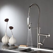 28'' Commercial Pre-Rinse Kitchen Sink Faucet Pull Down Sprayer Brushed Nickel