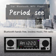 Bluetooth Vintage Car Radio MP3 Player Stereo USB AUX Classic Car Stereo
