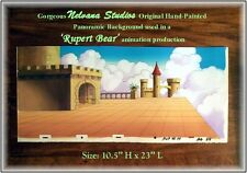 ORIGINAL Hand-Painted Nelvana Studios Panoramic Background - Castle in Clouds