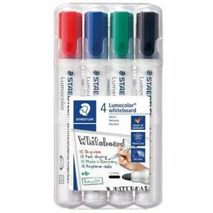 STAEDTLER 351 WP4 Lumocolour Whiteboard Marker with Bullet Tip, Multicolour, Pac