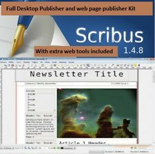 Desktop publishing publisher with extra Web FTP & image editing bundle included