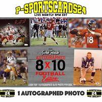 2020 GOLD-RUSH AUTOGRAPHED 8X10 FOOTBALL NFL NCAA PHOTO LIVE BOX BREAK #3598