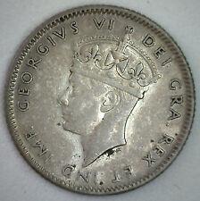 1947 C Newfoundland SILVER 10 Cents KM# 20a Ten Cent Coin XF