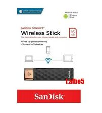 SanDisk CONNECT Wireless Stick 16GB WIFI USB Pen Drive for iPhone Android