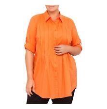 Nouvelle Woman Inverted Pleat Detail Shirt Size 18/22 Color Russet RRP $55