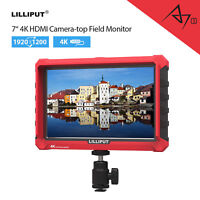 "Lilliput A7S 7"" HD Loop Output 4K DSLR Camera Field Monitor For Canon SONY DJI"