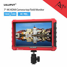 "Lilliput A7S 7"" 1920x1200 4K HDMI Input IPS Field Monitor Camera Wide Angle FHD"