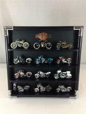 Lot of (12) Franklin Mint Harley Davidson Motorcycles With Display Case
