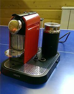 Krups XN 7106 NESPRESSO CitiZ & Milk red rot Espressomaschine u. Aeroccino