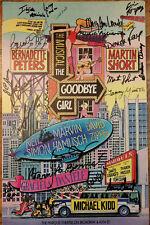 GOODBYE GIRL Broadway Signed Poster Bernadette Peters & Martin Short + cast