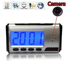 Mini Camera Alarm Clock Micro Hidden Nanny Cam Motion Detection DVR Video Spy