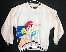 Vintage Adidas Cycling Crewneck Sweatshirt White 80s Mens Large Rare A2
