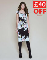 New Monsoon Floral Print BNWT £89 Evening Pencil Wiggle Wedding Party Dress SALE