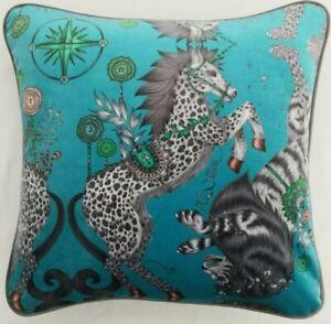 Emma J Shipley CASPIAN TEAL VELVET Cushion Cover 41cm