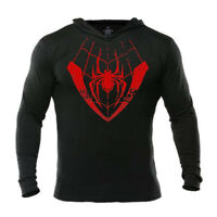 Miles Morales Spider Man Hoodie Into The Spider Verse Men's Workout Pullover