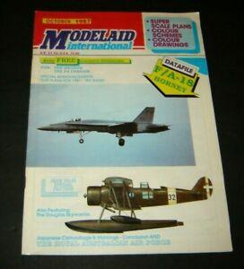 Modelaid International magazine October 1987 F/A -18 Hornet -F4 Corsair Airplane