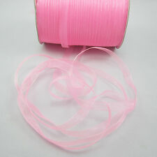 "New Hot~ 50Yards 3/8""10mm Wide Satin Edge Sheer Organza Ribbon Bow 12 Color Pick"