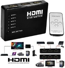 1080p HDMI 5 Port Switch Selector Switcher Splitter Hub with Remote for PS3 HDTV