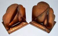 """CRAFTSMEN INC. ~ Vintage Pair of Solid Copper """"SAILBOAT"""" BOOKENDS (#287)"""