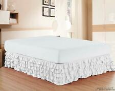 1000 Tc Soft Egyptian Cotton 1 Pc Multi Ruffle Bed Skirt Us Sizes & Colors