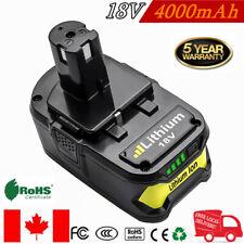 18V 4000mAh Lithium Battery For Ryobi One+ Plus P108 P104 P105 P102 P103 P107 TP