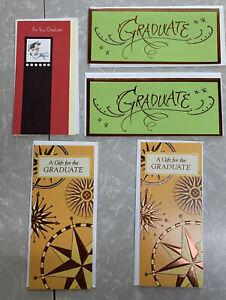 Lot Of 5 American Greeting Graduation Gift Cards New Unused Unisex