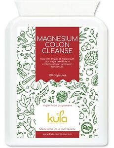Magnesium Citrate Colon Cleanse and Intestinal Detox - 100 Vegan Capsules