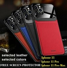 iPhone 11 Pro Max/11 Pro/11 Business PU Leather Case and Free Screen Protector