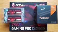 MSI 970A Gaming PRO Carbon Motherboard AMD FX-8370 8-Core 4.0GHz CPU + 8GB DDR3
