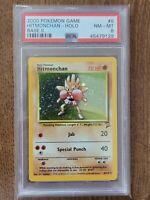 2000 Pokemon Base Set 2 Hitmonchan Holo PSA 8 MINT 8/130 Holo Rare Card