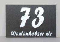 Hausnummer  im Edelstahl Look Hausnummernschild mit Wunschnummer 200x130 N1