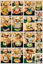 Lot Of 20 Cherished Teddies With Wooden Case