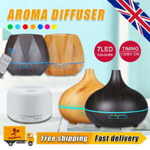 LED Essential Oil Diffuser Aroma Aromatherapy Ultrasonic Humidifier Air Purifier