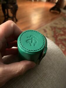 Brooks Brothers Leather Case With Shot Glasses Green