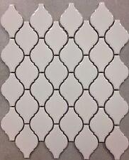 White Arabesque Porcelain Lantern Mosaic Tile  Kitchen Backsplash Bathroom