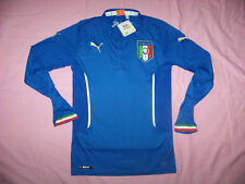 Puma Men's Italia Italy Home Long Sleeve Replica Jersey Small