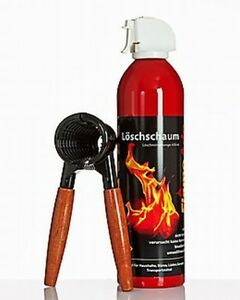 Feuerlöscher Flame ADE + Nussknacker | Mini Löschspray Minilöscher | Löschschaum