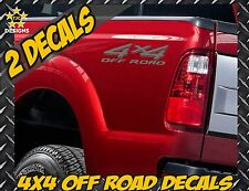 4x4 Truck Bed Decal Set GRAPHITE METALLIC for Ford Super Duty F-250 F-150 Ranger