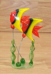 Unbranded MultiColor Blown Glass on Wire Fish Aquarium Deco Ornament *READ*