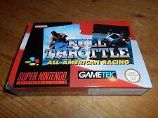 Full Throttle: All American Racing NEW/UNPLAYED OVP/CIB EUR Super Nintendo SNES