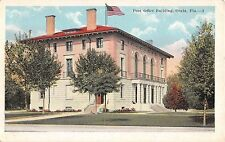 1920's Post Office Building Ocala FL post card